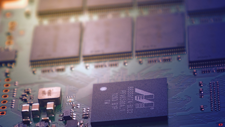 Close up of computer chips